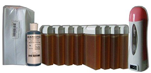 Look Concept - Kit épilation Solor 12 x 100 ml MIEL, 250 bandes lisses non-tissées, huile post épilation