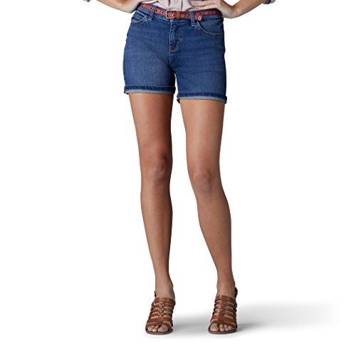 Lee Damen Modern Series Midrise Fit Cora Belted Short Jeansshorts, Iconic, 42 Lee Jean Belted Jeans