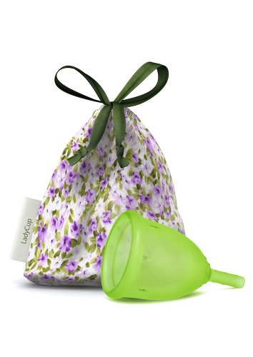 'LadyCup - Menstruationstasse'Green, talla- S (Small)