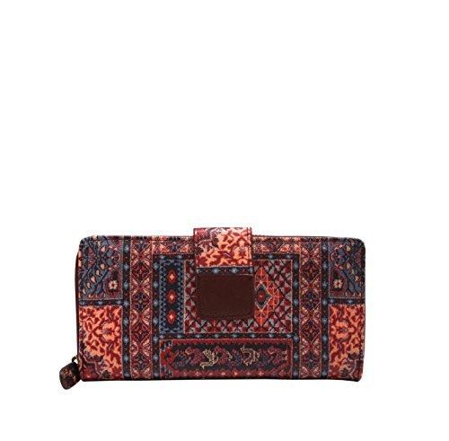 MENKAI PU-Leder Brieftasche Lange Wallet-Schaltfläche und Reißverschluss-Design um 1617 (Verkauf Für Große Geldbörsen)
