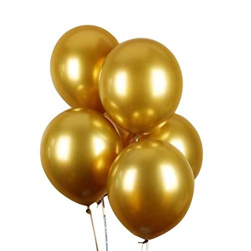 Enfei 50 stücke 11 Zoll New Metallic Doppel Latex Luftballons Dicke Pearly Metall Chrome Alloy Farben Foto Hochzeit Dekoration Ballons