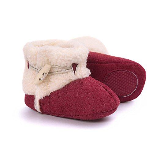 ESTAMICO , Chaussures souples pour bébé (fille) kaki 12-18 mois red
