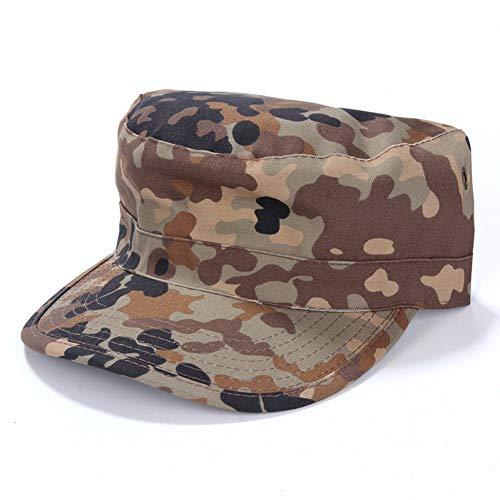 JJJRMP Camouflage Cap Männer Us Deutsche Soldaten Combat Army Baseball Cap Unisex Paintball Flache Hüte (Kostüm Soldat Rose)