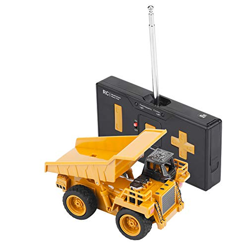 RC Auto kaufen Baufahrzeug Bild: Alomejor RC Bauwagen, Mini DIY Baufahrzeug RC Bagger Truck Bagger Kits Baustein Spielzeug(Kipper)*