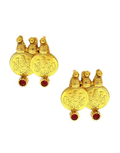 Anuradha Art Golden Colour Styled With Coin Pattern Designer Traditional Earrings For Women/Girls  available at amazon for Rs.125
