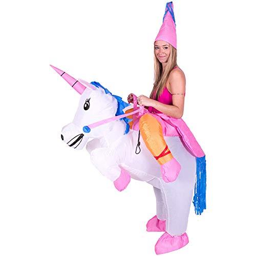 Deanyi Performance Service de Disfraces de Halloween para Adultos Cosplay Inflable Fiesta de Carnaval Ropa Unicornio Navidad sin batería