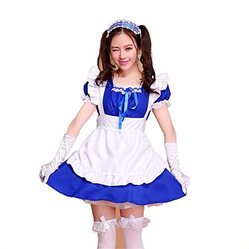 fagginakss Damen-Kostüm, französisches Dienstmädchen mit PVC-Mieder für Halloween Kollektion French Maid Kostüm mit Kleid - Hinweis French Maid Kostüm