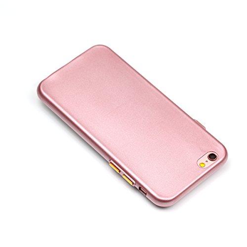 iPhone 6 Plus Coque, Voguecase TPU avec Absorption de Choc, Etui Silicone Souple Transparent, Légère / Ajustement Parfait Coque Shell Housse Cover pour Apple iPhone 6 Plus/6S Plus 5.5 (Bouton peinture Bouton peinture-Pink