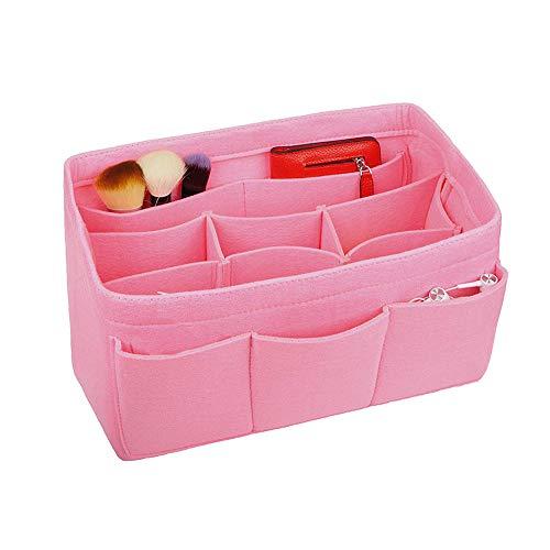 APSOONSELL Bag in The Bag Kulturtaschen Innentasche Handtaschenordner Organisator Kosmetikorganizer, Pink - Groß