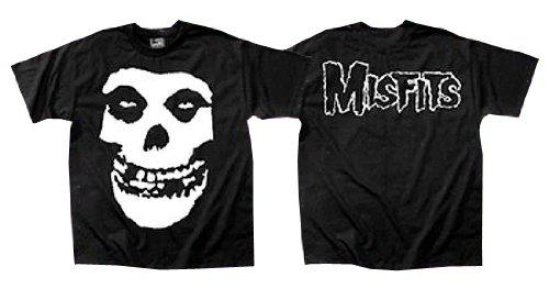 The Misfits - Classic Fiend Skull Adulto T-Shirt In Nero, Medium, Nero