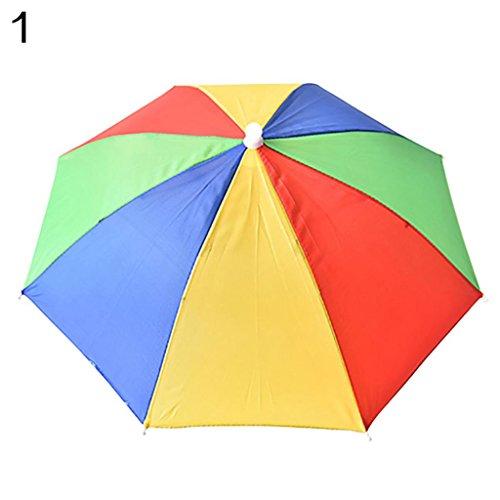 Geshiglobal archetto regolabile Sun Rain Outdoor sport pesca ombrello  pieghevole cappello 7c6c46f7b4dc
