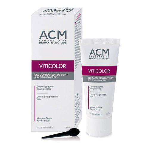 VITICOLOR SKIN CAMOUFLAGE GEL. Long lasting natural colouration for Vitiligo Skin. 50ml by Oxyvita Ltd (Camouflage-creme)