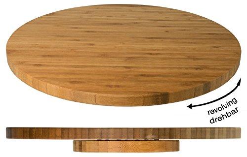 Holzplatte, drehbar aus massivem Bambusholz, kugelgelagerter, drehbarer Teller / Ø dia. 35 cm | ERK