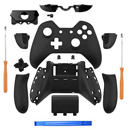 REFURBISHHOUSE Matt-schwarz Controller Geh?use Hülle Voll Set Faceplates Tasten für Xbox One Controller mit dem 3,5 mm Headset Klinke Xbox One Controller Hülle Kit mit 3,5 Anschluss -