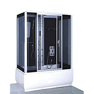 Bañera hidromasaje Modelo Sicily 150 x 83 cm Bañera de esquina spa hidromasaje Piscina Terapia luz de colores
