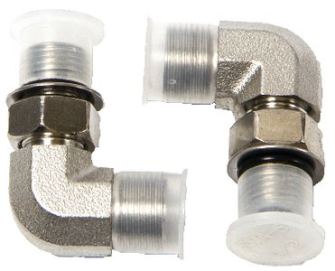 Teleflex Seastar Lösungen hf6004Orb fitting-90deg Ellenbogen 2Stück, hydraulische Lenkung -