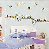 ufengke Comic-Auto Flugzeug Heißluftballon Wandsticker,Kinderzimmer Babyzimmer Entfernbare Wandtattoos Wandbilder