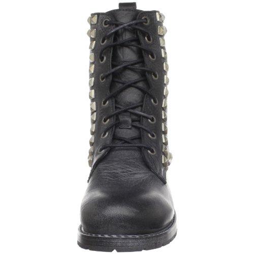 3768L anfibi neri donna FRYE rogan studi pace tall stivali scarpe boots shoes women nero delavè
