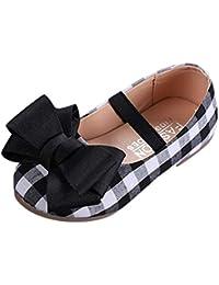Zapatos para Niñas Otoño 2017 Moda PAOLIAN Zapatos de Vestir Estilo Británico Boda Calzado Estampado Cuadros Invierno Chica Suela Blanda Regalo Fiesta Niñas Merceditas con Bowknot