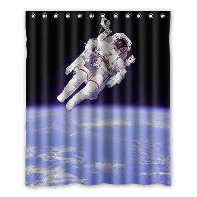 Dalliy Brauch astronaut Wasserdicht Polyester Shower Curtain Duschvorhang 152cm x 183cm