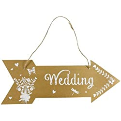 Cartel Flecha Wedding - 40x14,5 cm