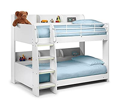 Happy Beds Domino Sleep Station Maple & White Bunk Bed 2x Mattress Kids Room New - inexpensive UK Bunkbed shop.