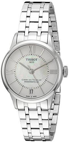 Tissot Femmes DE 42mm Bracelet en Acier & étui Anti réfléchissant Saphir Balai Automatique Cadran Montre t0992071111800
