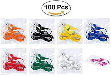 Packung mit 100 sehr billigen Kopfhörern - Einweg-Kopfhörer