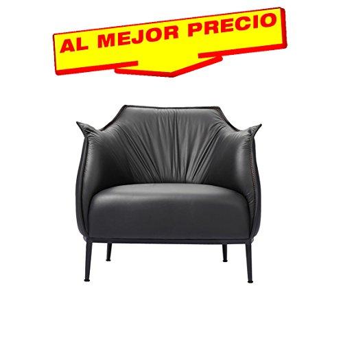 SILLÓN DE SIMILPIEL NEGRA SILLÓN DE DISEÑO IDEAL PARA SALONES, DESPACHOS.. Medidas:82x80x79cms OFERTA DEL HOGAR- ¡AL MEJOR PRECIO!