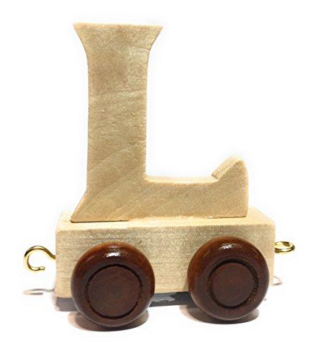 Buchstabenzug | Wunschname zusammenstellen | Holzeisenbahn | EbyReo® Namenszug aus Holz | personalisierbar | auch als Geschenk Set ( Buchstabenzug L )