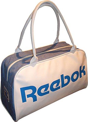 Reebook CL Royal Duffle - Bolso unisex, color blanco / azul, talla única