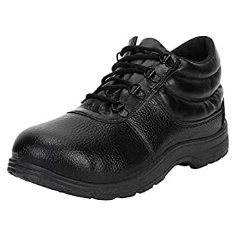 Earton Premium Quality Stylish & Designer Safety Shoes for Men Size: 10 (Colour: Black) 114