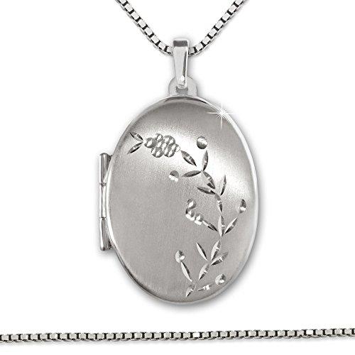 clever-schmuck-pendentif-medaillon-ovale-21-mm-satine-avec-sarments-fleurs-verzierter-diamante-brill