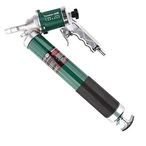 ZQYR ToolKit# 600CC Luft Fettpresse Set Einhand-Luftkompressor, Schmieren 10000 PSI mit Flex-Schlauch und zusätzlichem Metallrohr, 13035