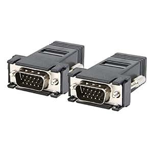 Extension rallonge extendeur vga cat5 5e 6 rj45 ethernet cable adaptateur informatique - Rallonge cable ethernet ...