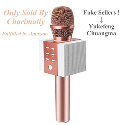 Microphone sans fil Bluetooth 4.2 Microphone karaoké Karaoké Portable Sans fil comme haut-parleur pour PC, ordinateur portable, iPhone, iPod, iPad et Android/iOS ou tout autre smartphone
