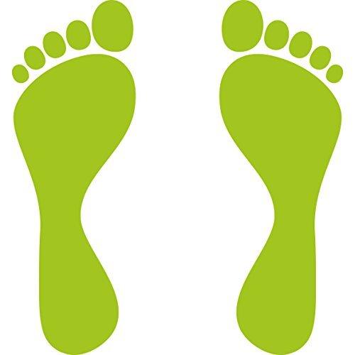 Füße Fußabdruck Fußspur Aufkleber Tattoo die cut Auto Heck Deko Folie (Fußabdruck-aufkleber)