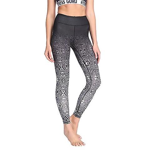 Yoga Pants, TINGK Women's Power Flex Yoga Pants Tummy Control Workout Yoga Capris Pants Leggings
