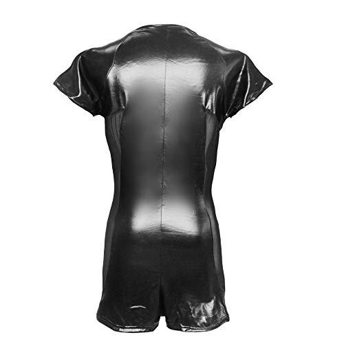 Männer T-Shirt Shorts Overall Sexy Unterwäsche Europa Und Den Vereinigten Staaten Außenhandel Leder Mesh Nähte S, M, L, XL, XXL, XXXL,S
