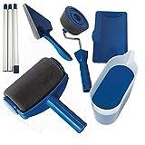 Saiko 6 pcs Kit Ensemble de brosse à rouleau de peinture, Professionnel Sans couture Kit de Rouleau de Peinture (6)