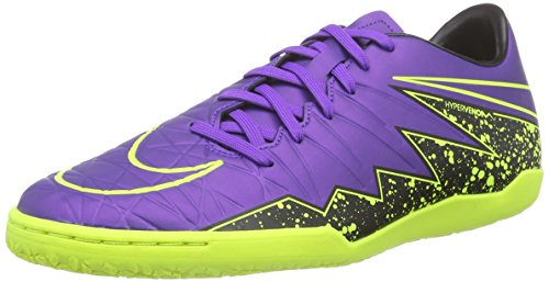 Nike  Hypervenom Phelon II IC, Chaussures de Football homme - hyper grape/hyper grape-black-volt
