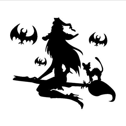 TOYP Schwarz hexenschläger Halloween wandaufkleber für Wohnzimmer Schlafzimmer Party Dekoration Vinyl wasserdicht DIY Kunst Aufkleber (Halloween Dekoration London)
