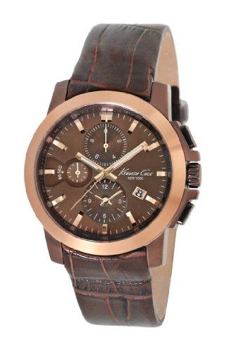 kenneth-cole-herren-armbanduhr-xl-dress-sport-chronograph-leder-kc1884