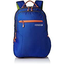 American Tourister Polyester 27 Ltrs Blue Laptop Backpack (AMT BOP2017 LAPTOP BKPK 2-BLUE)