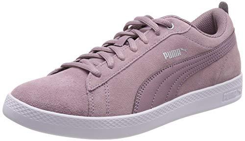 Puma Damen Smash WNS v2 SD Sneaker, Violett (Elderberry-Silver-Puma White 12), 37.5 EU - Schuhe Halbschuhe Damen 12