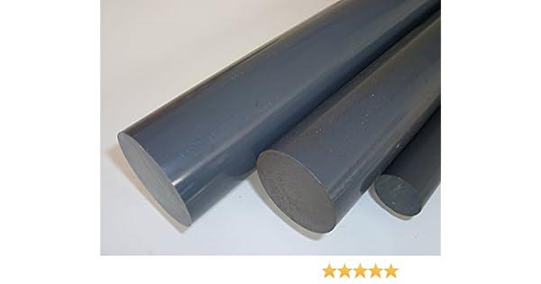 150 mm +//- 5 mm L/änge ca Au/ßendurchmesser mit Plustoleranz 15 cm B/&T Metall PVC grau Rundstab /Ø 150 mm