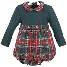 Isabel Maria - Ranita para bebé con el cuerpo de lana y el pantalón de cuadros escoceses