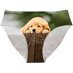 HUGS IDEA - Braguitas - para niña Verde Puppy X-Large