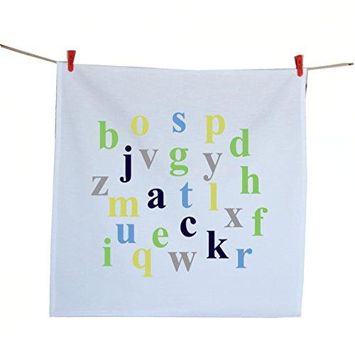 Amore Beaute hecho a mano algodón toalla de té impresa con alfabeto Handloom algodón servilletas 70x 70cm regalos para
