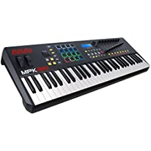 AKAI Professional MPK261 - Teclado controlador MIDI USB de 61 teclas semi-contrapesadas, pads MPC, VIP 3.0 y paquete de software incluido